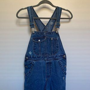 GAP Denim Overalls with Flower Embroidery